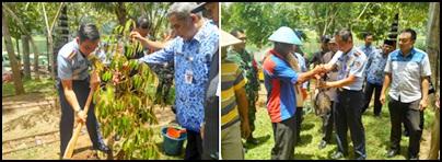 Usai latihan Denny Hasoloan tabur benih menanam pohon durian dan menerima hasil panen ikan. (sh)